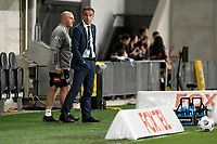 10th February 2021; Bankwest Stadium, Parramatta, New South Wales, Australia; A League Football, Western Sydney Wanderers versus Melbourne Victory; Grant Brebner of Melbourne Victory chats to his assistant about tactics