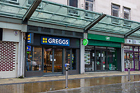 2020 06 18 Greggs reopen after being temporally shut due to Covid-19 in Swansea, Wales, UK\