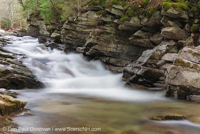 Norway Rapids on Avalanche Brook in Waterville Valley, New Hampshire. This area was logged during the Mad River Drainage logging era.