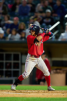 Worcester Red Sox Jeremy Rivera (53) bats during a game against the Rochester Red Wings on September 2, 2021 at Frontier Field in Rochester, New York.  (Mike Janes/Four Seam Images)