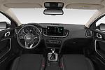 Stock photo of straight dashboard view of 2020 KIA XCeed-PHEV Business-Line 5 Door SUV Dashboard