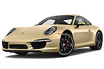 Low aggressive front three quarter view of a .2012 Porsche Carrera S Coupe