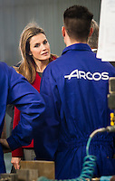 HRH Princes of Asturias and Princes of Spain Letizia Ortiz visit the IES University of Labor and Factory; Albacete Knifev ARCOS in Albacete on February 25, 2014. Photo by Samuel Marrodan/ Photocall3000/DyD Fotografos-DYDPPA