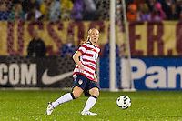 Becky Sauerbrunn (4) of the United States (USA). The United States (USA) and Germany (GER) played to a 2-2 tie during an international friendly at Rentschler Field in East Hartford, CT, on October 23, 2012.