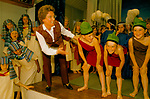 Rehearsals with drama teacher. Junior school play children performing for parents who are in the audience watching,  Private education Kent Uk 1990s