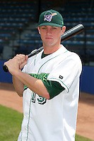 Jamestown Jammers Justin Webb poses for a photo before a NY-Penn League game at Russell Diethrick Park on July 1, 2006 in Jamestown, New York.  (Mike Janes/Four Seam Images)