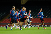 Spain's Thiago during the pre-International Friendly training session of the Spain squad at the Principality Stadium, Cardiff, UK. Wednesday 10 October 2018