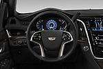 Car pictures of steering wheel view of a 2019 Cadillac Escalade Platinum 5 Door SUV Steering Wheel