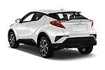 Car pictures of rear three quarter view of 2018 Toyota C-HR XLE-Premium 5 Door SUV Angular Rear