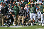 Baylor Bears coaching staff in action during the game between the OSU Cowboys and the Baylor Bears at the McLane Stadium in Waco, Texas.