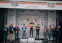Thibau Nys (BEL/U17) winning his 2nd national champions title<br /> <br /> Belgian National CX Championships / Koksijde 2018