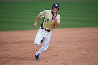 UCF Knights center fielder Luke Hamblin (12) during a game against the Siena Saints on February 21, 2016 at Jay Bergman Field in Orlando, Florida.  UCF defeated Siena 11-2.  (Mike Janes/Four Seam Images)