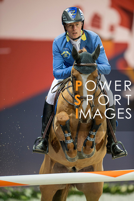 Christian Ahlmann of Germany riding Reavnir during the Hong Kong Jockey Club Trophy competition, part of the Longines Masters of Hong Kong on 10 February 2017 at the Asia World Expo in Hong Kong, China. Photo by Marcio Rodrigo Machado / Power Sport Images