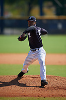 New York Yankees Harold Cortijo (45) during a Minor League Spring Training game against the Philadelphia Phillies on March 23, 2019 at the New York Yankees Minor League Complex in Tampa, Florida.  (Mike Janes/Four Seam Images)