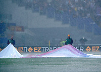 Calcio, Serie A: Roma vs Sampdoria. Roma, stadio Olimpico, 11 settembre 2016.<br /> Heavy rain falls during the Italian Serie A football match between Roma and Sampdoria at Rome's Olympic stadium, 11 September 2016. Roma won 3-2.<br /> UPDATE IMAGES PRESS/Isabella Bonotto