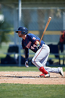 Minnesota Twins Shane Carrier (44) during a minor league Spring Training game against the Baltimore Orioles on March 17, 2017 at the Buck O'Neil Baseball Complex in Sarasota, Florida.  (Mike Janes/Four Seam Images)