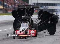 May 17, 2014; Commerce, GA, USA; NHRA top fuel dragster J.R. Todd during qualifying for the Southern Nationals at Atlanta Dragway. Mandatory Credit: Mark J. Rebilas-USA TODAY Sports