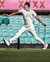 10th January 2021; Sydney Cricket Ground, Sydney, New South Wales, Australia; International Test Cricket, Third Test Day Four, Australia versus India; Mitchell Starc of Australia bowling