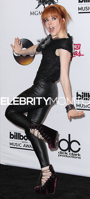 LAS VEGAS, NV, USA - MAY 18: Lindsey Stirling in the press room at the Billboard Music Awards 2014 held at the MGM Grand Garden Arena on May 18, 2014 in Las Vegas, Nevada, United States. (Photo by Xavier Collin/Celebrity Monitor)