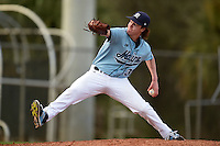 Maine Black Bears pitcher Connor Johnson (30) during a game against the Ball State Cardinals on March 3, 2015 at North Charlotte Regional Park in Port Charlotte, Florida.  Ball State defeated Maine 8-7.  (Mike Janes/Four Seam Images)