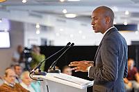 Pictured: Change UK spokesman Chuka Umunna. Monday 13 May 2019<br /> Re: Change UK, European Elections rally in Cardiff, Wales, UK.