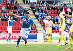 St Johnstone v Hearts…17.09.16.. McDiarmid Park  SPFL<br />Graham Cummins celebrates his goal<br />Picture by Graeme Hart.<br />Copyright Perthshire Picture Agency<br />Tel: 01738 623350  Mobile: 07990 594431