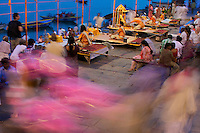 Varanasi India, Aarti Ceremony and Holi Festival