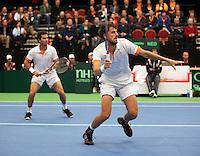 11-02-12, Netherlands,Tennis, Den Bosch, Daviscup Netherlands-Finland, Dubbels, Jean-Julien Rojer en Robin Haase(R)