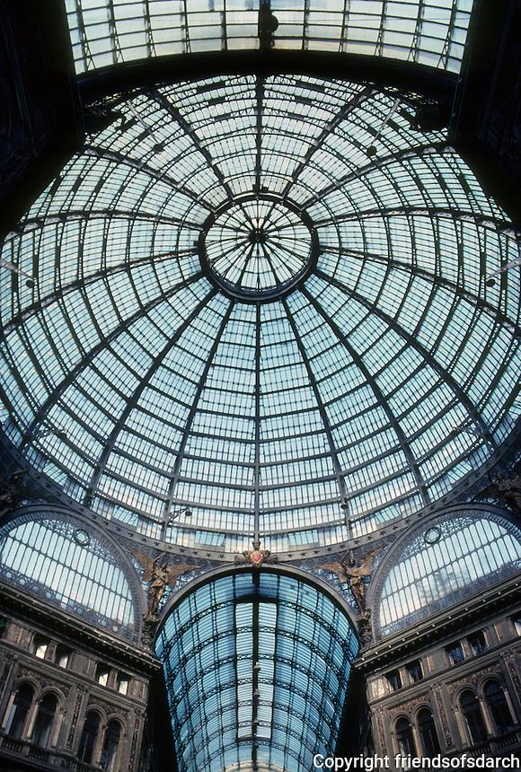 Italy: Naples--Galleria Umberto I. Photo '83.