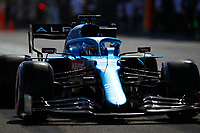 4th June 2021; Baku, Azerbaijan;  Free practise sessions;  14 ALONSO Fernando (spa), Alpine F1 A521 during the Formula 1 Azerbaijan Grand Prix 2021 at the Baku City Circuit, in Baku, Azerbaijan -