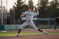 Mountain Ridge Mountain Lions starting pitcher Matthew Liberatore (32) pitches during a high school game against Sandra Day O'Connor High School at Brazell Field at GCU on April 19, 2018 in Glendale, Arizona. Mountain Ridge defeated Sandra Day O'Connor 2-1. (Zachary Lucy/Four Seam Images)