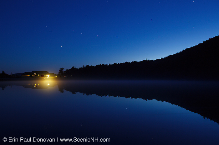 Crawford Notch State Park - Big Dipper from Saco Lake at night in the White Mountains, New Hampshire during the summer months.