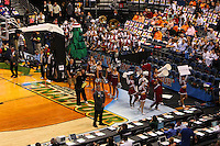 6 April 2008: Stanford Cardinal band, Dollies, and cheerleaders during Stanford's 82-73 win against the Connecticut Huskies in the 2008 NCAA Division I Women's Basketball Final Four semifinal game at the St. Pete Times Forum Arena in Tampa Bay, FL.