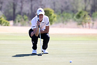 WALLACE, NC - MARCH 09: Samantha Vodry of High Point University lines up a putt on the 13th green of the River Course at River Landing Country Club on March 09, 2020 in Wallace, North Carolina.
