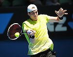 January 24, 2010.John Isner of the USA, in action during his 7-6, 6-3,, 6-2 loss to Great Britain's Andy Murray in the fourth round of The Australian Open, Melbourne Park, Melbourne, Australia.