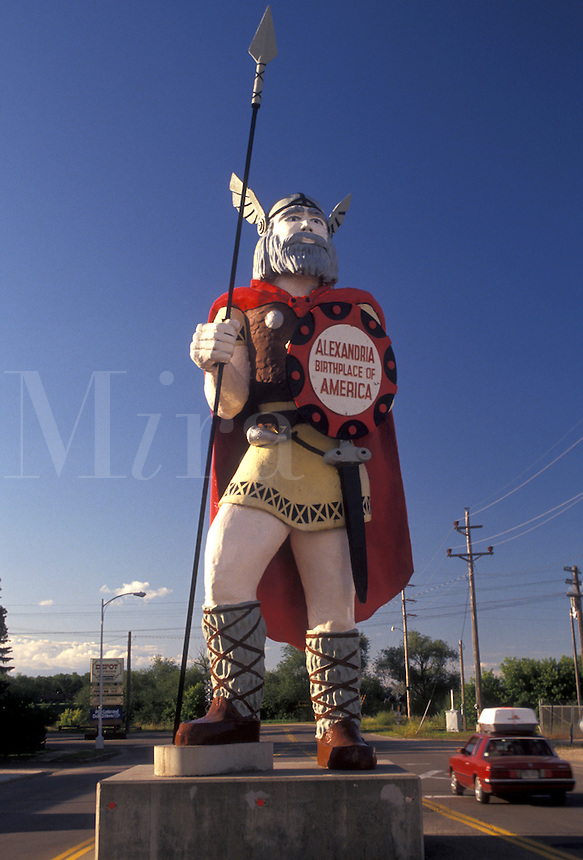 """AJ2885, viking, Minnesota, """"""""Alex"""""""" the Viking statue stands tall in the town of Alexandria in the state of Minnesota."""