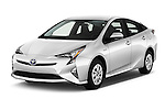 2016 Toyota Prius Comfort 5 Door Hatchback Angular Front stock photos of front three quarter view