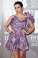 Charlie XCX<br /> arrives for the BRIT Awards 2017 held at the O2 Arena, Greenwich, London.<br /> <br /> <br /> ©Ash Knotek  D3233  22/02/2017