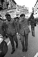 """- Milan, demonstration of the organization """"Proletarian in Uniform"""" (1976)<br /> <br /> - Milano, manifestazione dell'organizzazione """"Proletari in Divisa"""" (1976)"""