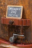 tank door sign on tank prestige 2007 domaine roger sabon chateauneuf du pape rhone france