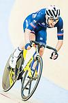 Benjamin Thomas of France celebrates winning in the Men's Madison 50 km Final during the 2017 UCI Track Cycling World Championships on 16 April 2017, in Hong Kong Velodrome, Hong Kong, China. Photo by Marcio Rodrigo Machado / Power Sport Images