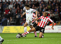 Pictured: Jordi Gomez of Swansea City in action<br /> Re: Coca Cola Championship, Swansea City Football Club v Southampton at the Liberty Stadium, Swansea, south Wales 25 October 2008.<br /> Picture by Dimitrios Legakis Photography, Swansea, 07815441513