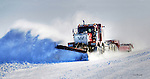 Plow truck on ice road on Great Slave lake. Original 90 MB.