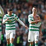 31.03.2019 Celtic v Rangers: Tom Rogic and Mikael Lustig