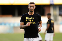 SAN JOSE, CA - SEPTEMBER 16: Dario Zuparic #13 of the Portland Timbers during warmups before a game between Portland Timbers and San Jose Earthquakes at Earthquakes Stadium on September 16, 2020 in San Jose, California.