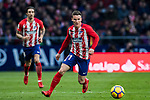 Kevin Gameiro of Atletico de Madrid in action during the La Liga 2017-18 match between Atletico de Madrid and Girona FC at Wanda Metropolitano on 20 January 2018 in Madrid, Spain. Photo by Diego Gonzalez / Power Sport Images