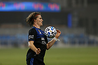 SAN JOSE, CA - SEPTEMBER 13: Florian Jungwirth #23 of the San Jose Earthquakes controls the ball during a game between Los Angeles Galaxy and San Jose Earthquakes at Earthquakes Stadium on September 13, 2020 in San Jose, California.