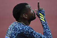 Anthony Jose Zambrano of Colombia prepares to compete in the 400m men during the Wanda Diamond League Golden Gala meeting at the Luigi Ridolfi stadium in Florence, Italy, June 10th, 2021. Photo Andrea Staccioli / Insidefoto
