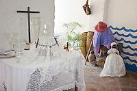 "Cuba, Trinidad.  Shrine to Yemalla, Templo de Yemalla (""Jemaya""), a Yoruba Orisha, Protector of Children, representing the Ocean, Water, Fish."