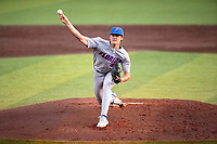 Florida Gators starting pitcher Tommy Mace (47) delivers a pitch to the plate against the Tennessee Volunteers on Robert M. Lindsay Field at Lindsey Nelson Stadium on April 9, 2021, in Knoxville, Tennessee. (Danny Parker/Four Seam Images)